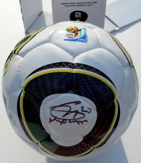 Gonzalo Higuain Signed Adidas FIFA World Cup Ball Soccer Real Madrid