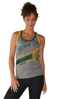 Green Bay Packers Womens Grey Smashmouth Tri Blend Tank Top