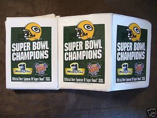 1997 Green Bay Packers Miller Beer Super Bowl Stickers Lot of 13
