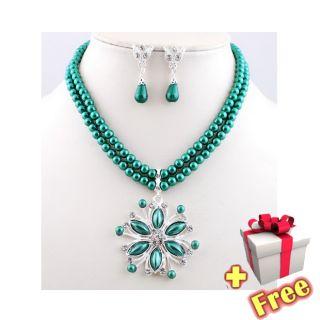 Wedding Set Style Choose Hanging Pendant Imitate Pearl Necklace