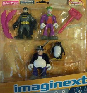 Fisher Price DC Super Friends Batman Penguin Joker New