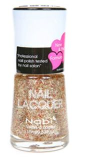 Gold Glitter Nail Polish w Mini Gold Glitter by Nabi