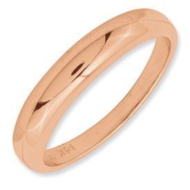 New 14k White Yellow or Rose Gold Casted Band Ring Available in