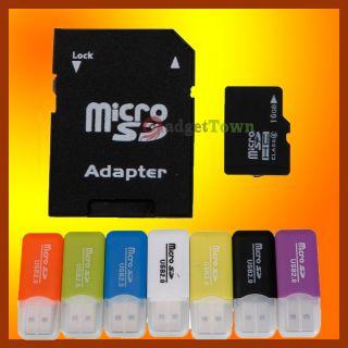 16g 16GB Micro SD SDHC 16 G GB TF Memory Card Adapter Reader