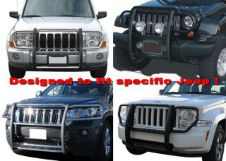 Brand New Stainless Grille Saver Bumper Brush Guard for 07 11 Jeep