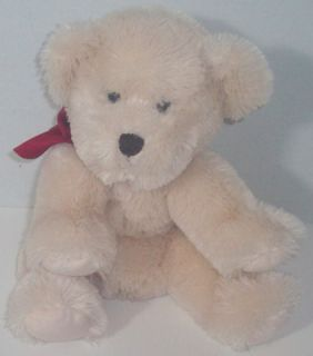 Russ Berrie Giles Teddy Bear Cream Plush Stuffed