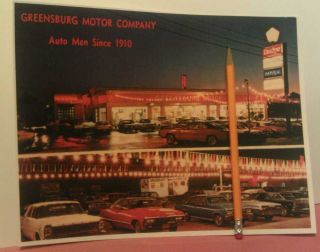 1960s Greensburg Motor Car Dealer Co PA Lincoln Highway Dodge Chrysler