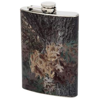 of 6 Stainless Steel Flasks 8 oz with Camo Wrap Groomsmen Gift