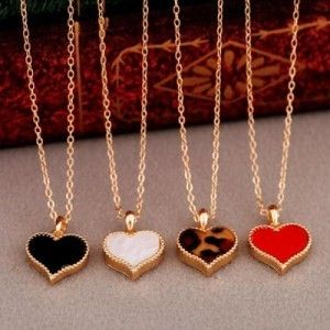 Gossip Girl Serena Same Style Three Color Love Heart Necklace Clavicle