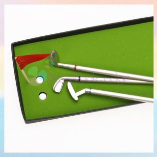 Pro Club Golf Scoring Driver Putter Ball Point Pens Flag Set Kit Lover