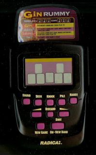 Radica Gin Rummy Electronic Handheld Game Casino Card LCD Toy Travel