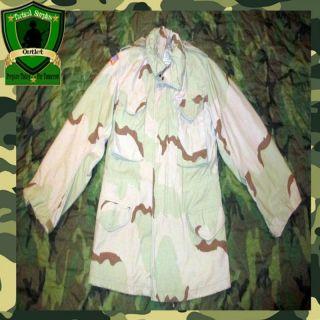 Lightly Used USGI Military Army Desert DCU Field Jacket Coat Hiking