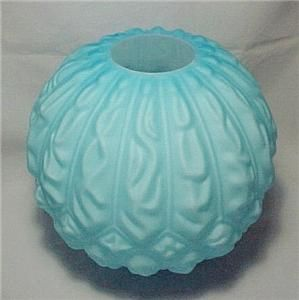 Blue Gone with The Wind Glass Lamp Shade Ball Oil Globe Kerosene