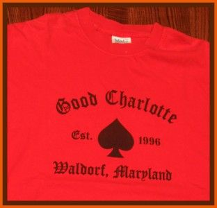 Good Charlotte Rock Concert Tour T Shirt XL