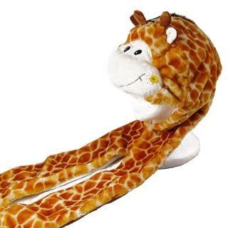 Multifunctional Animal Hat Earmuff Scarf Gloves Mitten Giraffe