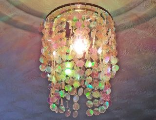 GIRLS LAMP SHADE PENDANT CEILING LIGHT RETRO KIDS PINK DISC 2 TIER
