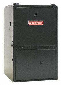 GOODMAN TWO STAGE GAS FURNACE 69 K BTU 95 EFFICIENCY UPFLOW HORIZONTAL