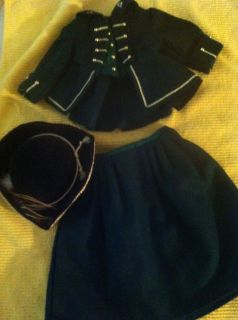 American Girl Felicity Doll Horse Riding Outfit Costume Dress Hat with