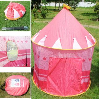 Portable Folding Kids Play Tents Castle House Princess Palace Children