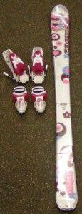 New Rossignol Fun Girl Downhill Skis 110cm with Roxy T4 Bindings