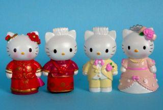 Wedding Cake Topper Figures Lot of 4pc Hello Kitty Figure Doll Gitt