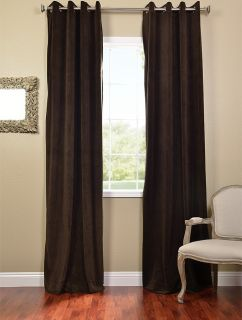 Java Grommet Velvet Blackout Curtains Drapes