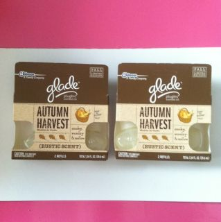 Glade Scented Oil Plugins AUTUMN HARVEST Fall Collection 4 Refills