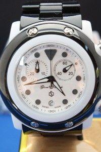 Womens Glam Rock GK1112 Black Miami Beach Chronograph Swiss Watch New