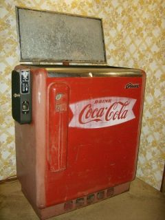 GLASCO STARLET GBV 50 COCA COLA COKE 10 CENT SLIDER VENDING MACHINE