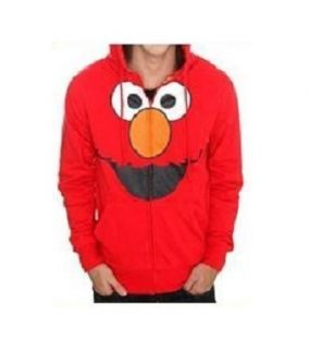 Elmo Red Hoodie Jacket Girls Small Jrs 3 5 New Spring Zipper