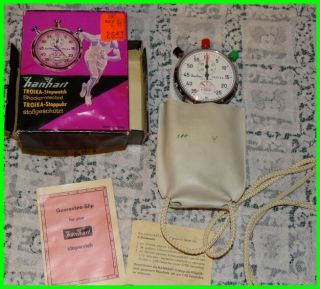 Hanhart Troika stopwatch stop watch 7 jewel mechanical 1 10 1 20 track