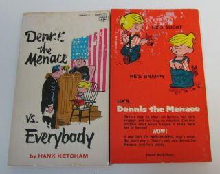 Menace Cartoon Books Hank Ketcham Short 'N Snappy Wanted Joey