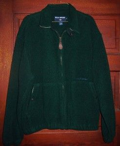 Ralph Lauren Polo Sport Green Full Zip Front Fleece Jacket Mens L