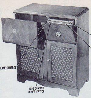 1949 Silvertone 8107A Radio Service Manual Schematic Console 8108