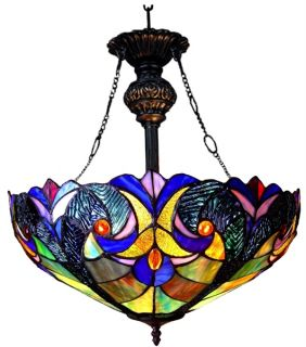 Styled Tiffany Style Stained Glass Pendant Lamp 18 Shade