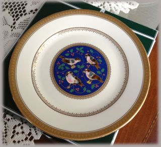 Mikasa Twelve Days of Christmas Decorative Collectible Plate Four