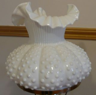 Beautiful Fenton White Milk Glass Shade