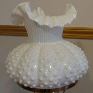Beautiful Fenton White Milk Glass Shade