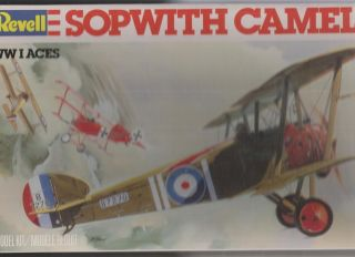 28~SOPWITH CAMEL~Kit No. 4419~REVELL~WWI Aces Airplane~128~~~