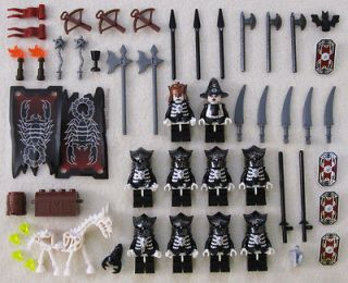 10 LEGO CASTLE KNIGHT MINIFIG LOT figures people men BLACK minifigures