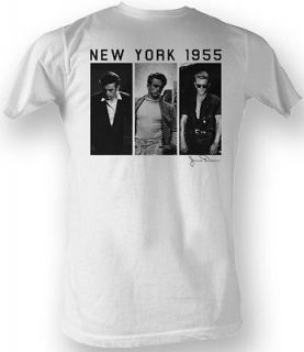 james dean t shirt three portraits adult white tee shirt