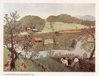 Grandma Moses Print Hoosick River Summer