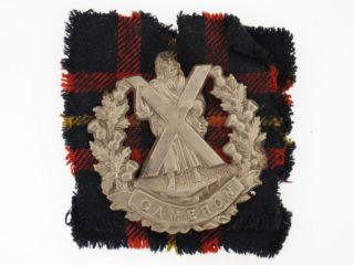 Great Britain WWII Queens Own Cameron Highlanders Glengarry