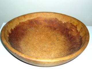 Antique Primitive Old Wood Munising Dough Bowl Early Vtg Large 13 5