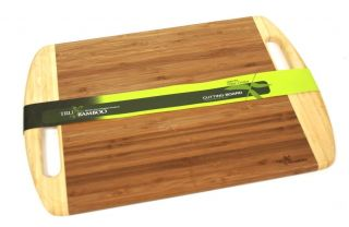 SALE TruBamboos Large Bamboo Cutting Board with Handles 16.0 x 11.5