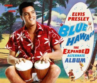 PRESLEY; BLUE HAWAII, THE EXPANDED ALTERNATE ALBUM; HARD BACK CD BOOK