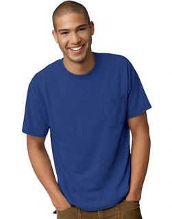 Hanes Tagless EcoSmart Mens Pocket T Shirt Style 5177