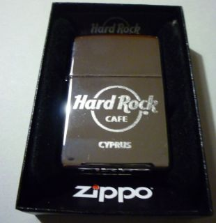 Hard Rock Cafe CYPRUS Nicosia SILVER CHROME ZIPPO LIGHTER New FREE