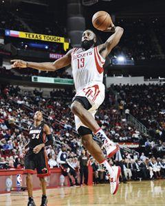 James Harden ROCKET LAUNCH Houston Rockets 2012 13 NBA Premium Poster