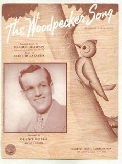 fine print woodpecker song 1940 glenn miller vintage sheet music